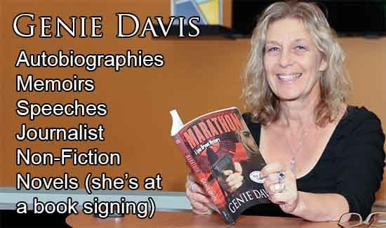 Genie Davis Novels Non-Fiction Autobiographies Memoirs Speeches Journalist 550x325