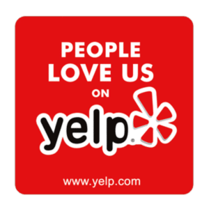 Yelp sticker.